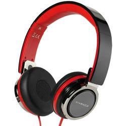 Hi-Fi slúchadlá On Ear Vivanco SR 770 37573, čierna, červená