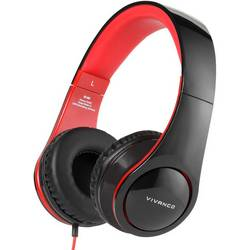 Hi-Fi slúchadlá Over Ear Vivanco SR 660 37572, čierna, červená