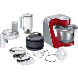 Kuchynský robot Bosch Haushalt MUM58720, 1000 W, tmavočervená, strieborná (matná)