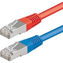 Sieťový prepojovací kábel RJ45 ESYLUX EC10431135, 10.00 m, červená, modrá