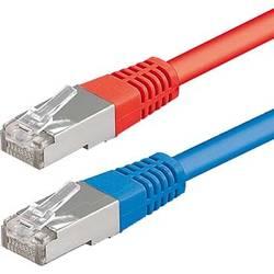 Sieťový prepojovací kábel RJ45 ESYLUX EC10431173, 10.00 m, červená, modrá