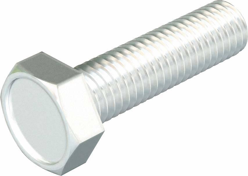 100 Sechskantschrauben DIN 933 8.8 U feuerverzinkt M10x35