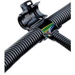 T rozdeľovač Fränkische Rohrwerke SNAP-LOCK #49216101 49216101, čierna, 100 ks