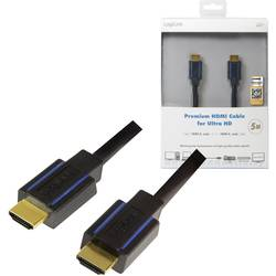 HDMI prepojovací kábel LogiLink CHB006, 5.00 m, čierna