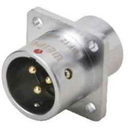 Guľatý konektor DIN Deltron Connectors DELMSF1213/P4 IP67, mosadz pochrómovaná, pólů 4, 1 ks