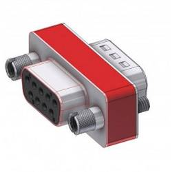 Image of Deltron Connectors D-SUB Adapter D-SUB-Buchse 9pol. - D-SUB-Stecker 9pol. 1 St.