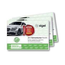 Image of Sigel T1179 DIN A6 quer Fahrtenbuch Anzahl der Blätter: 40 3 St./Pack. 1 Pckg.