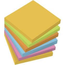 Sigel lístky s poznámkou MU120 75 x 75 mm v 5 farbách Sigel MU120, (š x v) 75 mm x 75 mm, žltá, zelená, oranžová, modrá, ružová, 100 listov