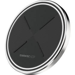 Bezdrátová indukční nabíječka Terratec 257478, Qi standard, černá/stříbrná