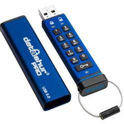 USB flash disk iStorage datAshur® PRO IS-FL-DA3-256-32, 32 GB, USB 3.0, modrá