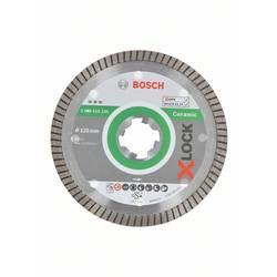 Diamantový rezací kotúč X-LOCK Best for Ceramic Extra Clean Turbo, 125 x 1,4 x 7 mm Bosch Accessories 2608615132, Priemer 125 mm, 1 ks