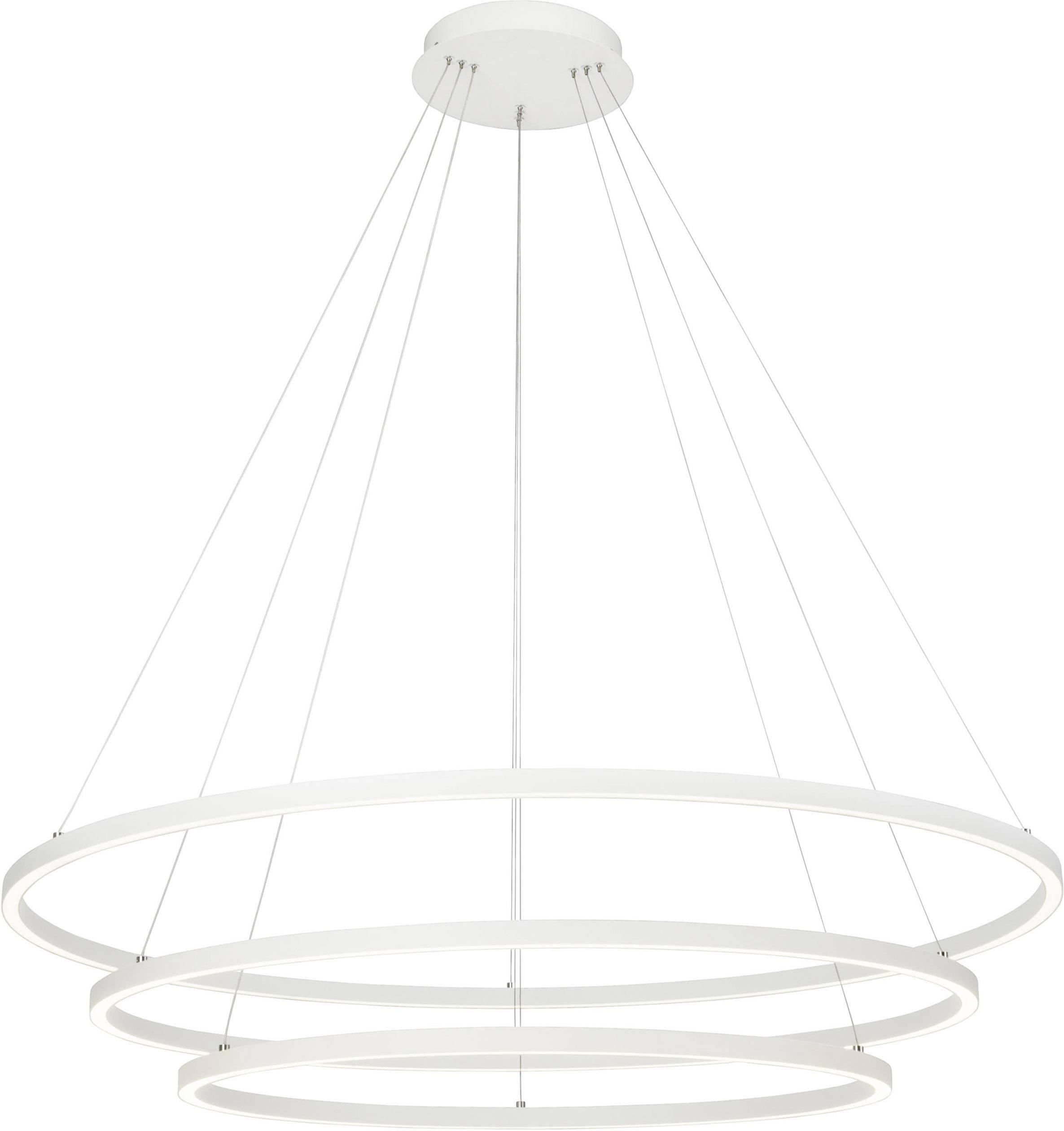 Brilliant Anilo G9328285 LED Pendelleuchte 142 W Neutral Weiß Sand, Weiß