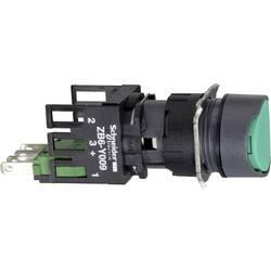 Tlačidlo Schneider Electric XB6AA31B, 250 V, 3 A, čierna, zelená, 1 ks