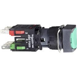 Tlačidlo Schneider Electric XB6CA35B, 250 V, 3 A, čierna, zelená, 1 ks