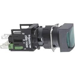 Svetelné tlačidlo Schneider Electric XB6CW3B1B, 250 V, 3 A, čierna, zelená, 1 ks