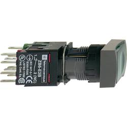 Svetelné tlačidlo Schneider Electric XB6DF3B1B, 250 V, 3 A, čierna, zelená, 1 ks