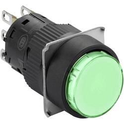 Svetelné tlačidlo Schneider Electric XB6EAW3B1P, 250 V, 3 A, čierna, zelená, 5 ks