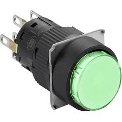 Svetelné tlačidlo Schneider Electric XB6EAW3B2P, 250 V, 3 A, čierna, zelená, 5 ks