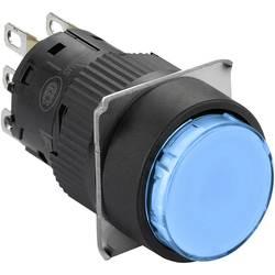 Svetelné tlačidlo Schneider Electric XB6EAF6J1P, 250 V, 3 A, čierna, modrá, 5 ks