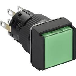 Svetelné tlačidlo Schneider Electric XB6ECW3B2P, 250 V, 3 A, čierna, zelená, 5 ks