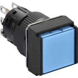 Svetelné tlačidlo Schneider Electric XB6ECW6B1P, 24 V, 3 A, čierna, modrá, 5 ks