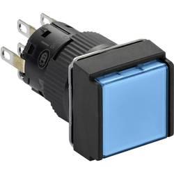Svetelné tlačidlo Schneider Electric XB6ECW6B2P, 24 V, 3 A, čierna, modrá, 5 ks