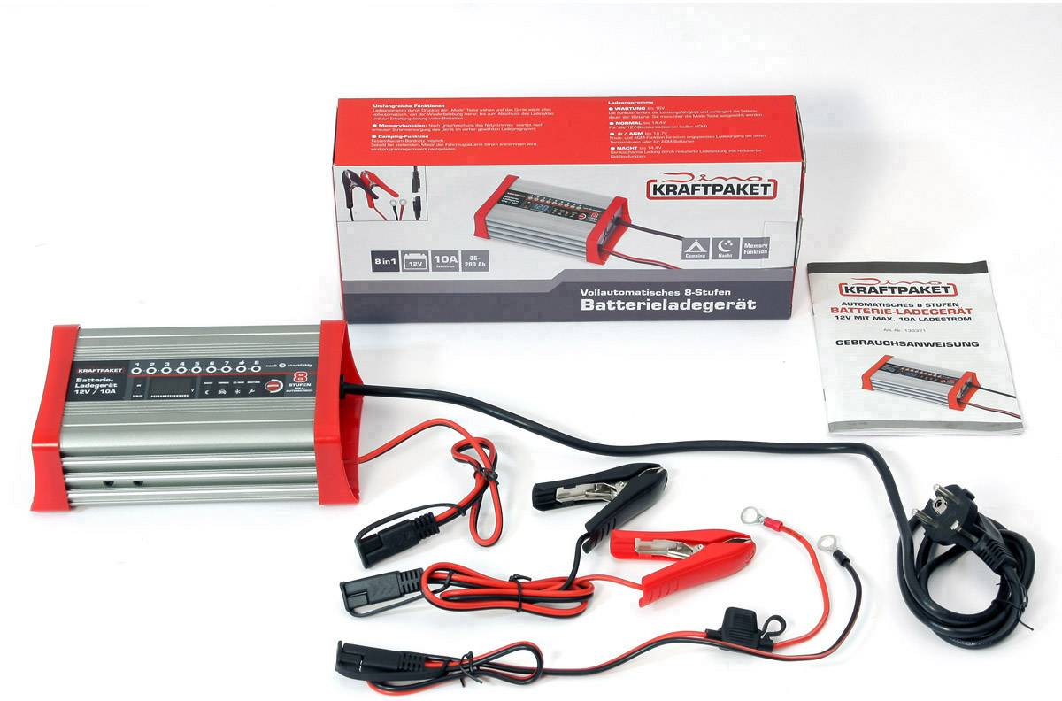 Dino KRAFTPAKET 136321 Automatikladegerät 12 V 10 A