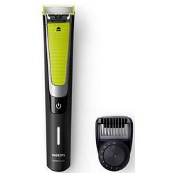 Presný zastrihávač, zastrihávač fúzov, holiaci strojček na tvár Philips QP6505/21 OneBlade Pro, omývateľný, čierna, zelená, strieborná