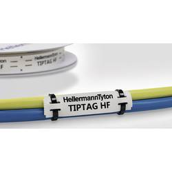 Držiak štítkov HellermannTyton TIPTAG15X100WH-PO-WH (120) 556-21079, biela, 1 ks