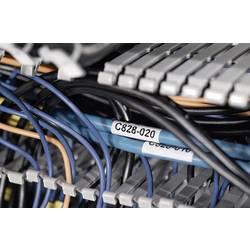 Samolepiace štítky na prenos tepla 70X35X85 biela / priehľadná HellermannTyton TAG91TD1-1209-WHCL-1209-CL/WH, 1 ks, biela + transparentná