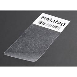 Samolepiace štítky pre laserovú tlač 25.4X12.7X36.5 biele / priehľadné HellermannTyton TAG02LA4-1104-WHCL-1104-CL/WH, 1 ks, biela + transparentná