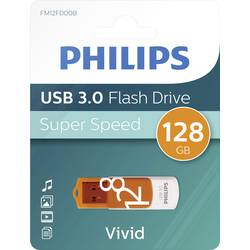 USB flash disk Philips FM12FD00B/00, 128 GB, USB 3.2 Gen 1 (USB 3.0), oranžová