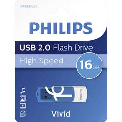 USB flash disk Philips VIVID FM16FD05B/00, 16 GB, USB 2.0, modrá