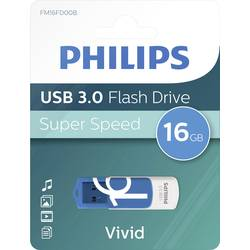 USB flash disk Philips VIVID FM16FD00B/00, 16 GB, USB 3.2 Gen 1 (USB 3.0), modrá