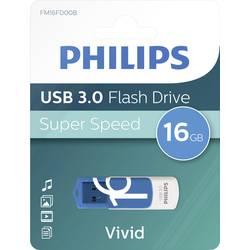 USB flash disk Philips VIVID FM16FD00B/00, 16 GB, USB 3.0, modrá