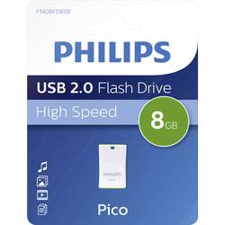 USB flash disk Philips PICO FM08FD85B/00, 8 GB, USB 2.0, zelená
