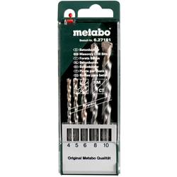 Sada vrtákov do betónu Metabo 627181000, 4 mm, 5 mm, 6 mm, 8 mm, 10 mm, N/A, 5 ks
