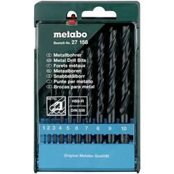 Sada špirálových vrtákov do kovu Metabo 627158000, N/A, 10 ks