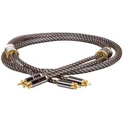 Prepojovací kábel Dynavox 207480 [2x cinch zástrčka - 2x cinch zástrčka], 1 m, zlatá, čierna