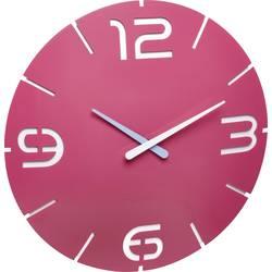 Quartz nástenné hodiny TFA Dostmann Contour 60.3047.12, vonkajší Ø 35 cm, ružová