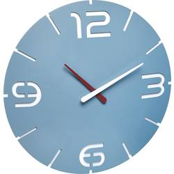 Quartz nástenné hodiny TFA Dostmann Contour 60.3047.14, vonkajší Ø 35 cm, morská modrá