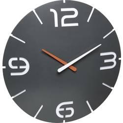 DCF nástenné hodiny TFA Dostmann Contour 60.3536.10, vonkajší Ø 35 cm, antracitová