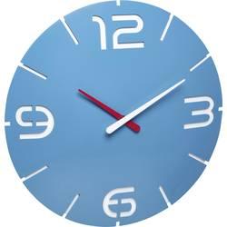 DCF nástenné hodiny TFA Dostmann Contour 60.3536.14, vonkajší Ø 35 cm, nebeská modrá