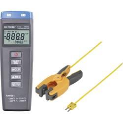 Teplomer VOLTCRAFT K102 + TP300 -200 do +1370 °C, Typ senzora K, Kalibrované podľa: ISO