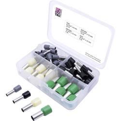 Sada dutiniek TRU COMPONENTS T1903C025, 4 mm², 6 mm², 10 mm², 16 mm², čiastočne izolované, sivá, čierna, žltá, zelená, 45 ks