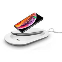 Bezdrátová indukční nabíječka Mipow SPX07S-WT, Qi standard, USB-C™ zásuvka, bílá