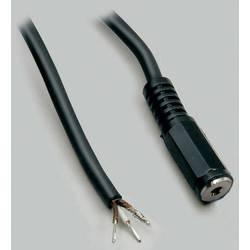 Jack kábel jack zásuvka 2,5 mm - kábel, otvorený koniec BKL Electronic 1101256, stereo, pólů 3, 1 ks