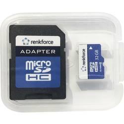 Pamäťová karta micro SD, 32 GB, Renkforce Class 10, vr. SD adaptéru
