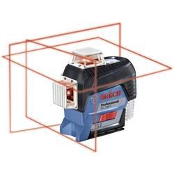 Krížová vodováha laserová Bosch Professional GLL 3-80 C (Karton), Dosah (max.): 120 m, Kalibrované podľa: bez certifikátu