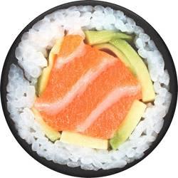 Stojan na mobil POPSOCKETS Salmon Roll N/A, čierna, biela, oranžová